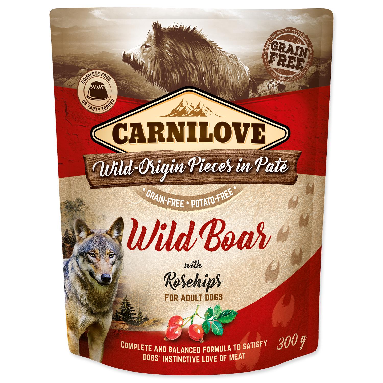 Kapsička CARNILOVE Dog Paté Wild Boar with Rosehips