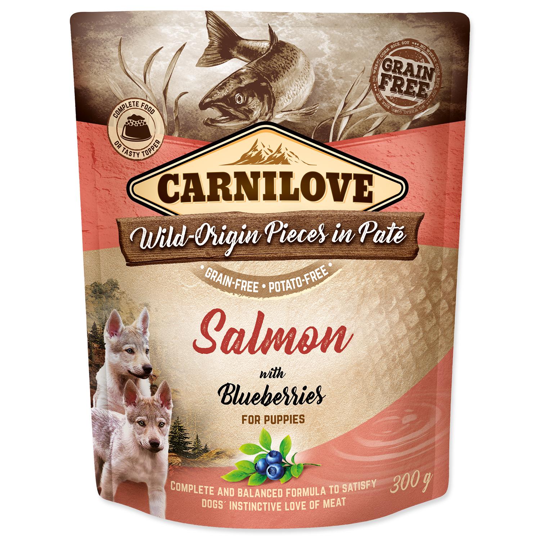 Kapsička CARNILOVE Puppy Paté Salmon with Blueberries