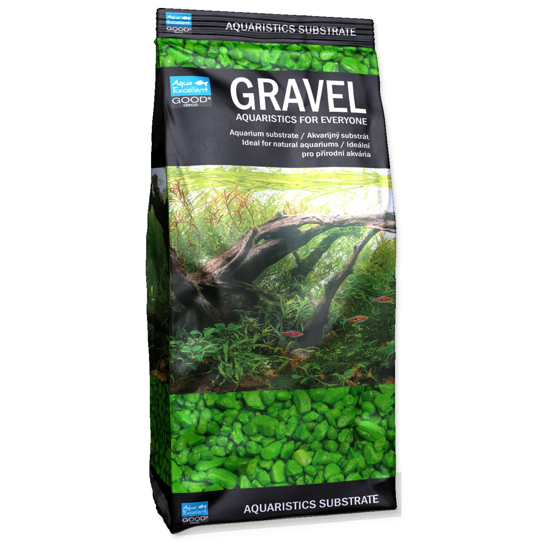 Písek AQUA EXCELLENT 3-6 mm svítivě zelený