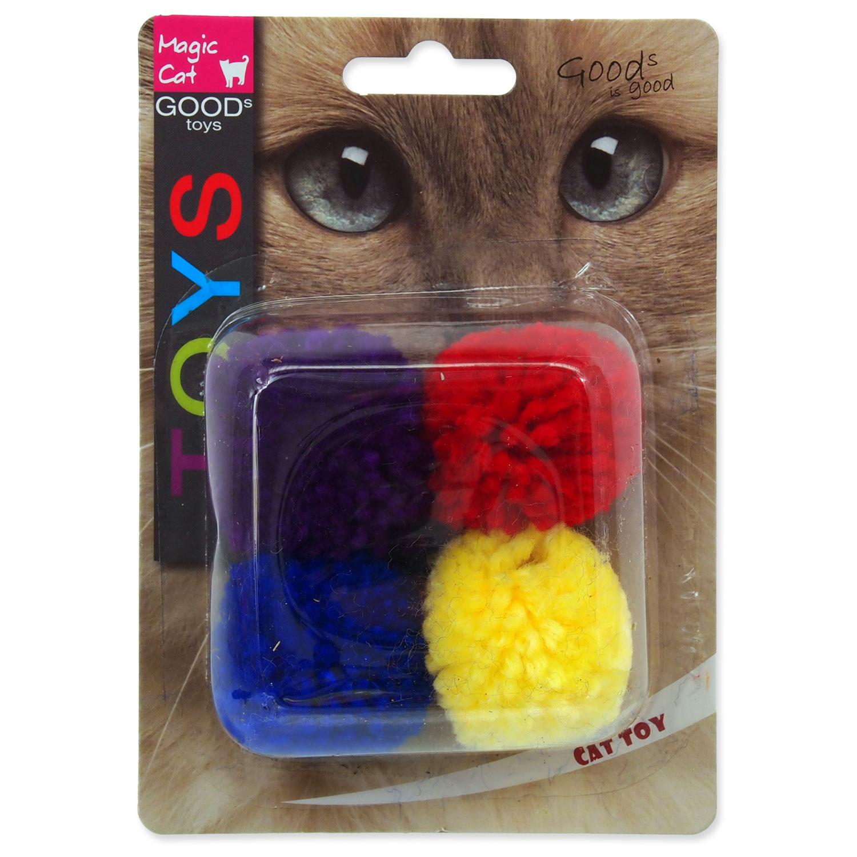 Hračka MAGIC CAT míček bavlněný s catnipem 3,75 cm