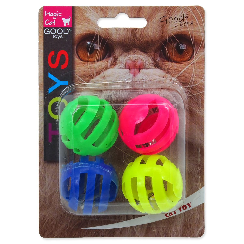 Hračka MAGIC CAT míček děrovaný plastový s rolničkou 3,75 cm