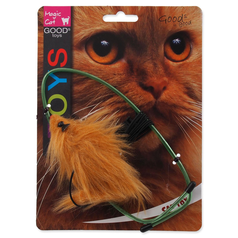 Hračka MAGIC CAT myška závěsná na dveře plyšová mix 1ks