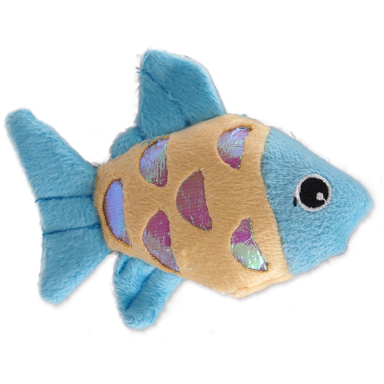 Hračka MAGIC CAT rybka plyšová s catnipem mix 10 cm 1ks