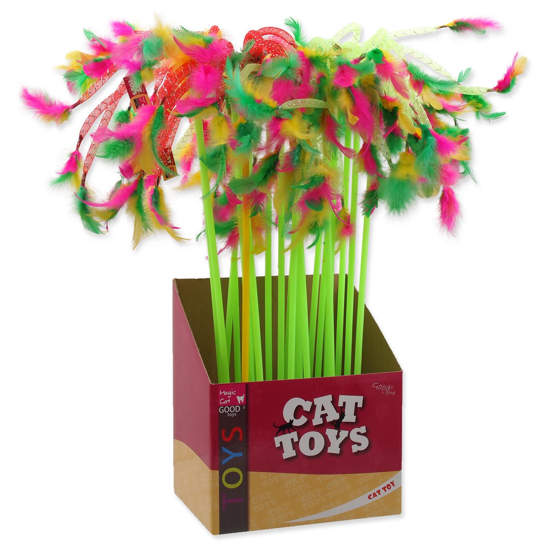Hračka MAGIC CAT šidítko s pírky 27 cm + 49 cm