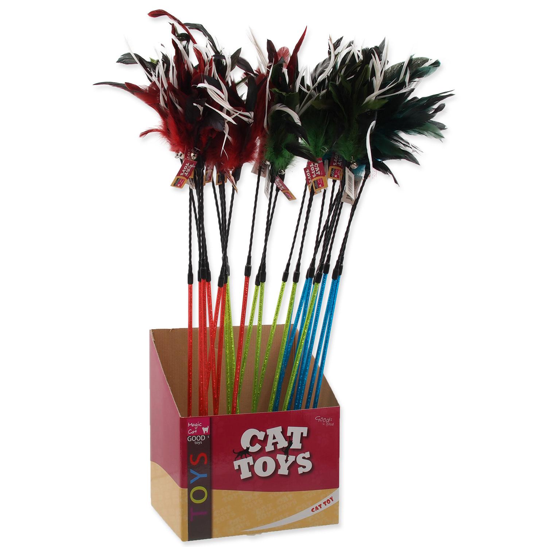 Hračka MAGIC CAT šidítko s pírky 13 cm + 61 cm
