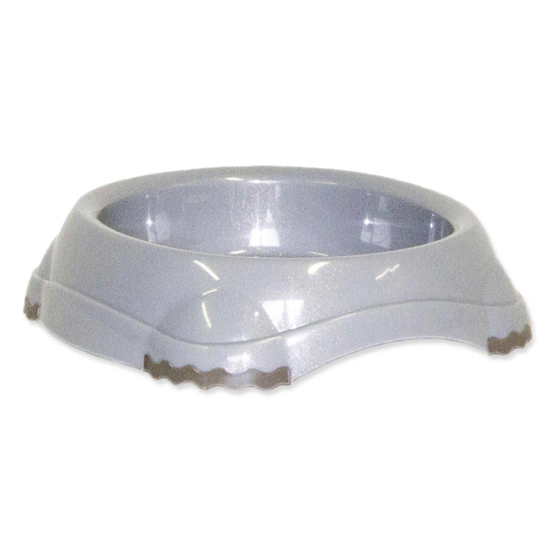 Miska MAGIC CAT plastová protiskluzová šedá 15 cm