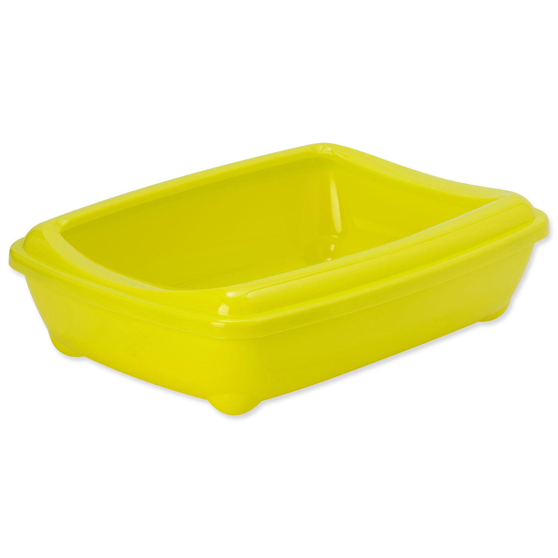 Toaleta MAGIC CAT Economy s okrajem žlutá 50 cm