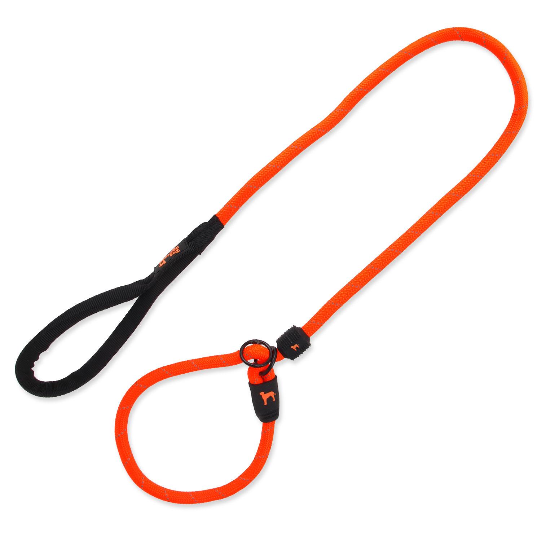 Vodítko DOG FANTASY s obojkem oranžové L