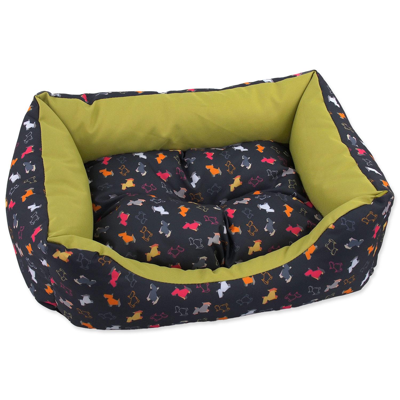 Sofa DOG FANTASY origami pes mix černo-zelené 75 cm
