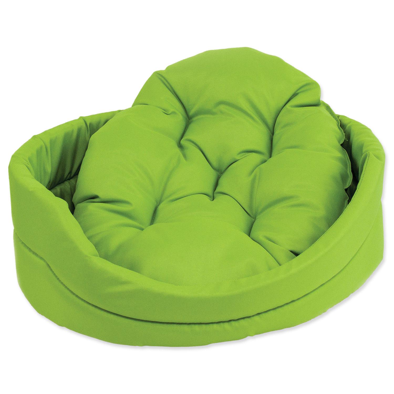 Pelíšek DOG FANTASY ovál s polštářem zelený 60 cm