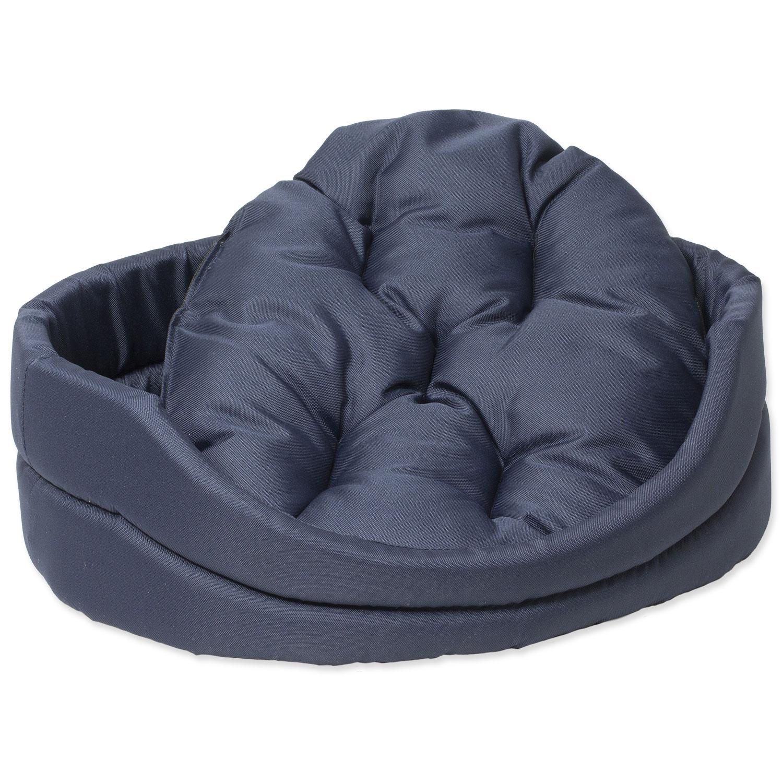 Pelíšek DOG FANTASY ovál s polštářem tmavě modrý 100 cm