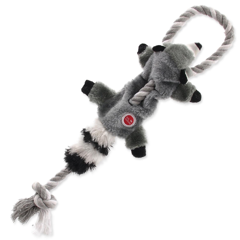Hračka DOG FANTASY Skinneeez s provazem mýval 35 cm