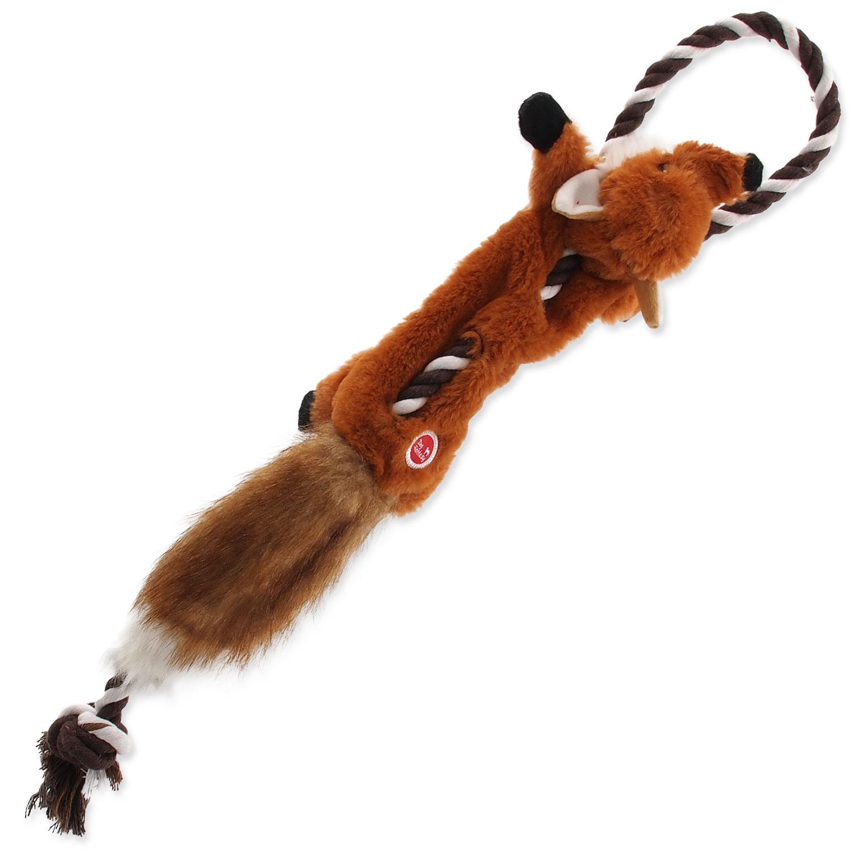 Hračka DOG FANTASY Skinneeez s provazem liška 57,5 cm