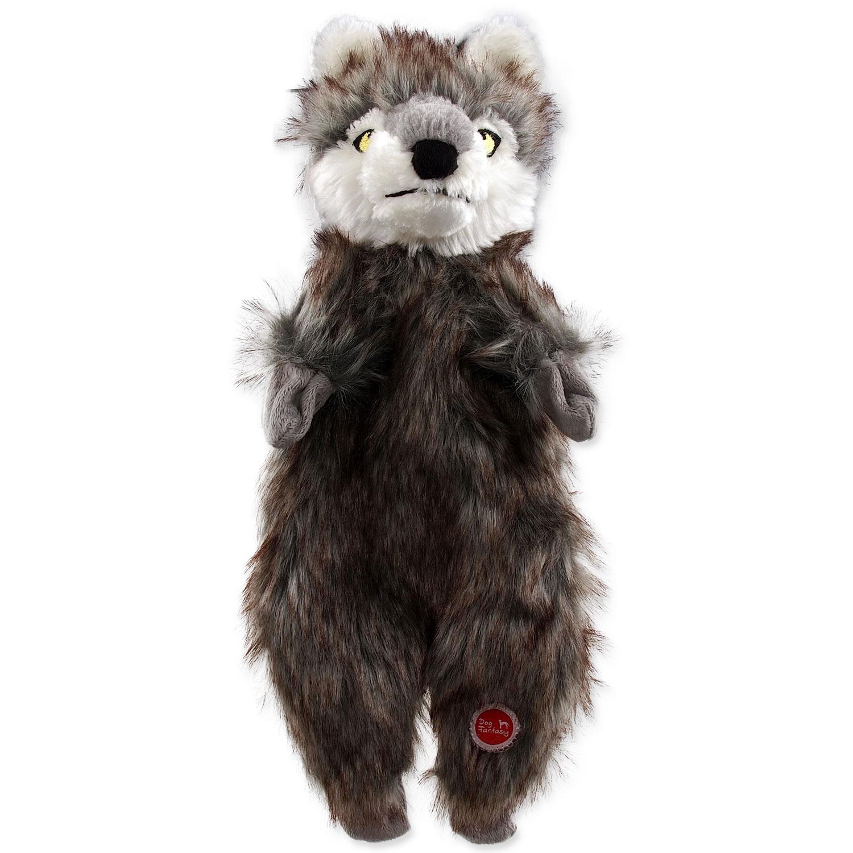 Hračka DOG FANTASY Skinneeez vlk plyšový 34 cm