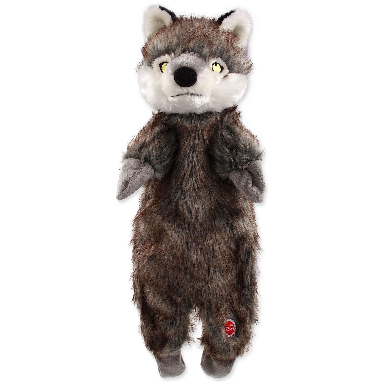 Hračka DOG FANTASY Skinneeez vlk plyšový 50 cm
