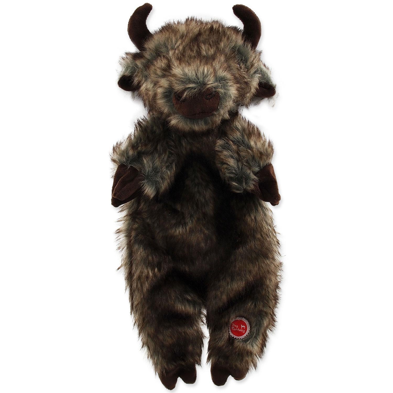 Hračka DOG FANTASY Skinneeez bizon plyšový 34 cm