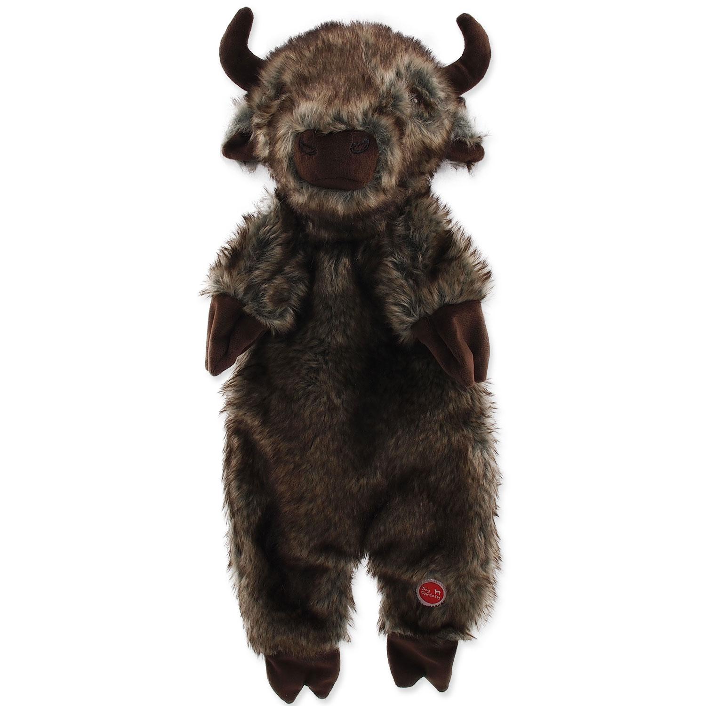 Hračka DOG FANTASY Skinneeez bizon plyšový 50 cm