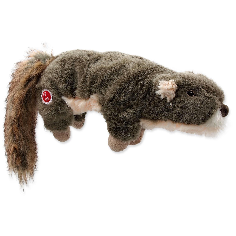 Hračka DOG FANTASY Skinneeez Plush pískací veverka 45 cm