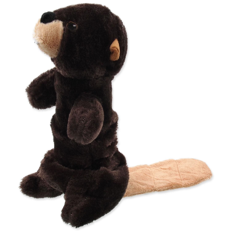 Hračka DOG FANTASY Skinneeez Plush pískací bobr 45 cm 1ks