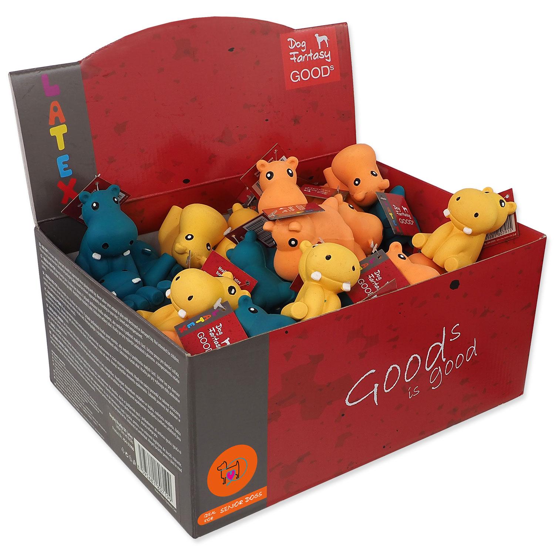 Displej hračky DOG FANTASY Latex Hippo 3 x 8 ks