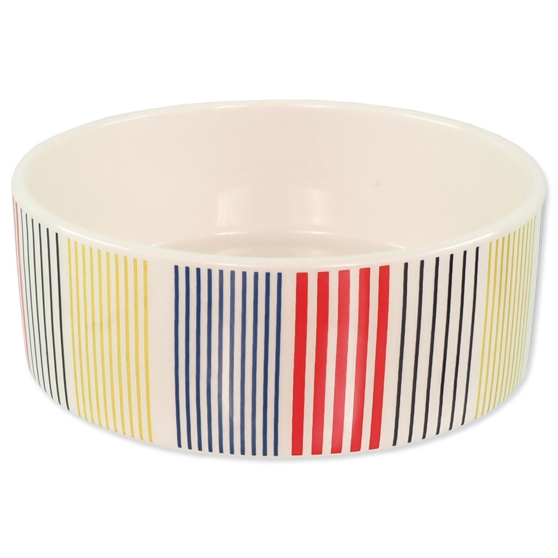 Miska DOG FANTASY keramická barevné pruhy 16 cm