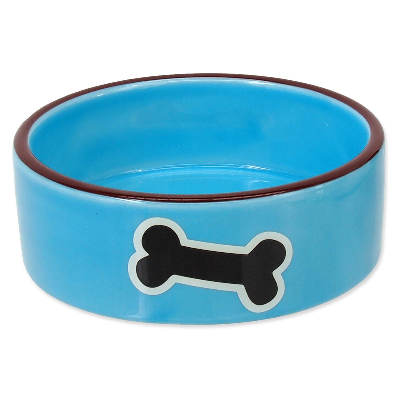 Miska DOG FANTASY keramická potisk kost modrá 12,5 cm