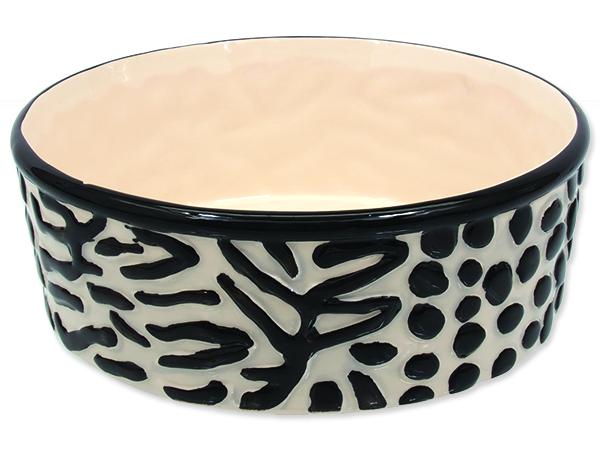 Miska DOG FANTASY keramická zebra 21,5 cm