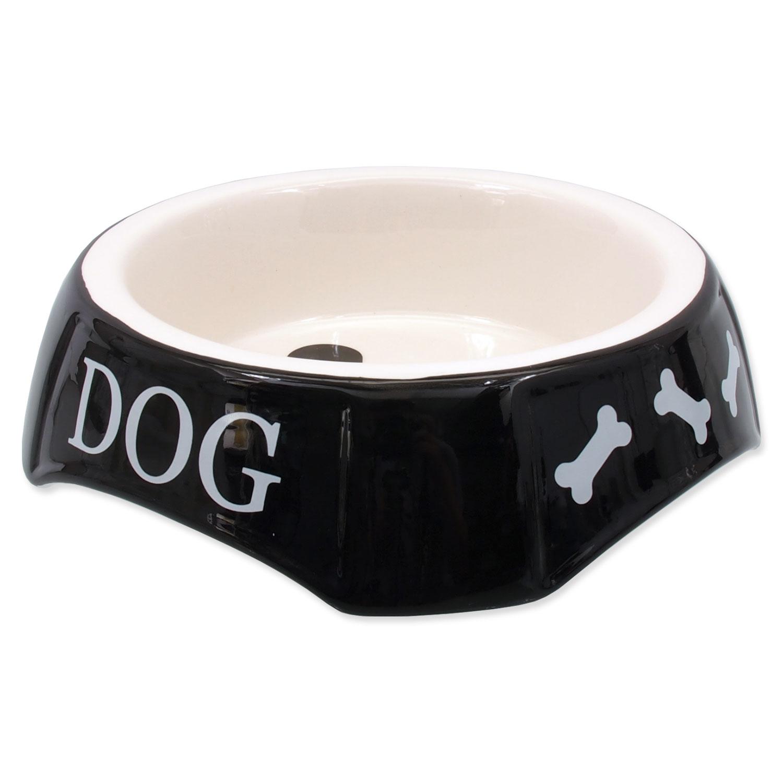 Miska DOG FANTASY potisk Dog černá 18,5 cm