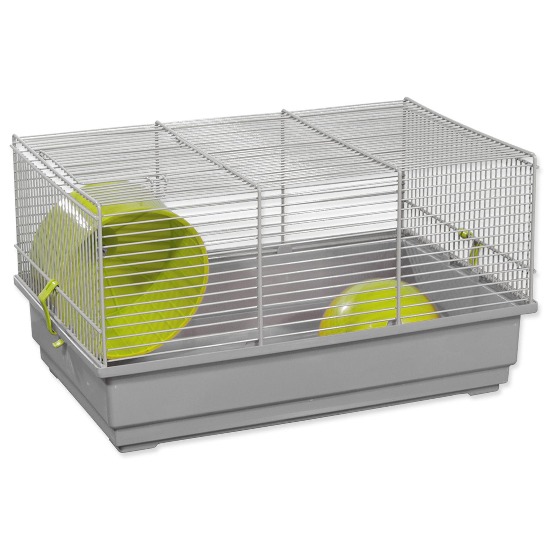 Klec SMALL ANIMALS Richard šedo-zelená se šedou výbavou