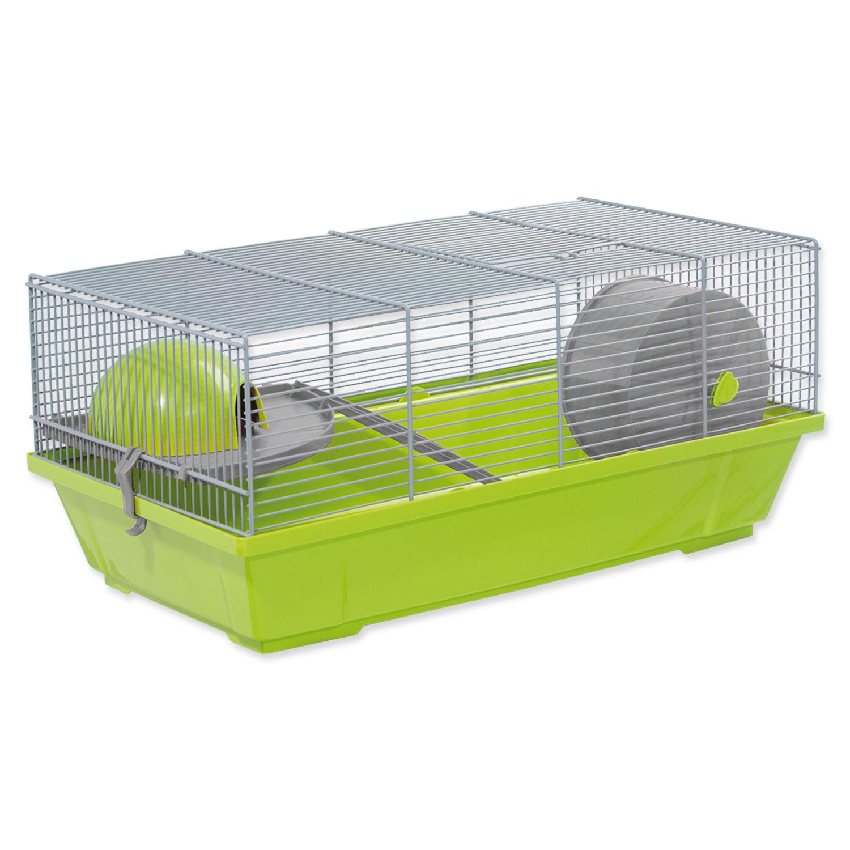 Klec SMALL ANIMALS Erik šedo-zelená s výbavou