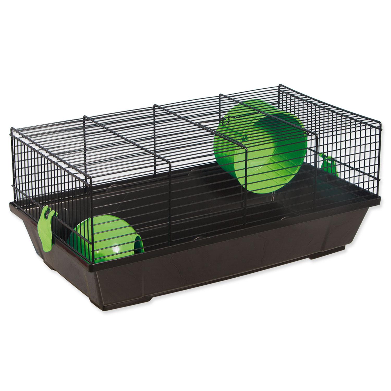 Klec SMALL ANIMALS Viktor černá se zelenou výbavou