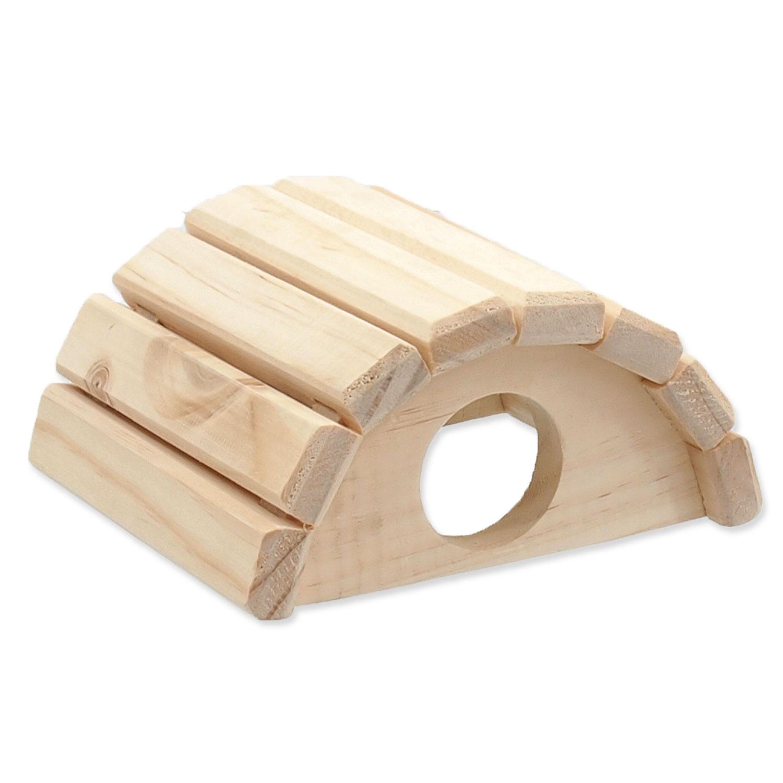 Domek SMALL ANIMALS půlkruh dřevěný 15 x 13 x 7,5 cm