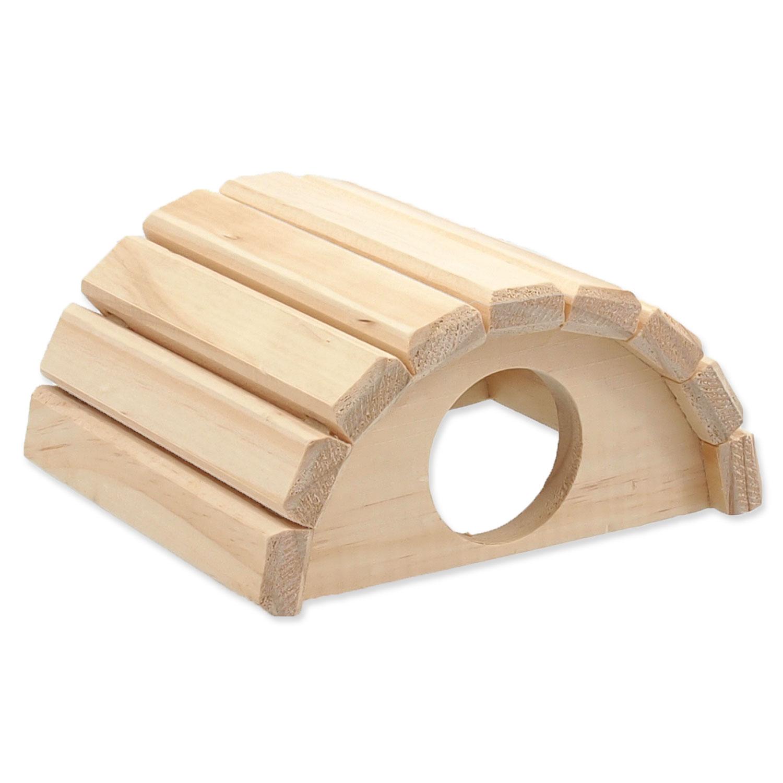 Domek SMALL ANIMALS půlkruh dřevěný 16,5 x 15 x 8 cm