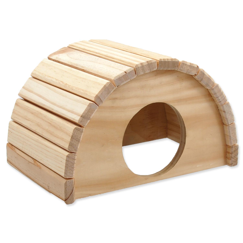 Domek SMALL ANIMALS půlkruh dřevěný 24 x 17 x 15 cm
