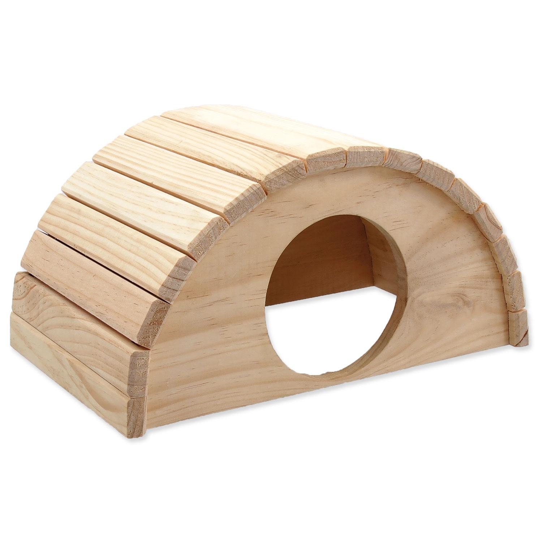 Domek SMALL ANIMALS půlkruh dřevěný 31 x 20 x 15,5 cm