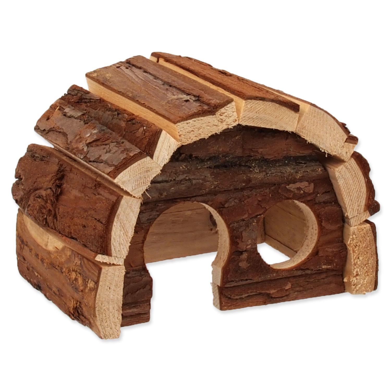 Domek SMALL ANIMALS Hobit dřevěný 15 x 10 x 9 cm