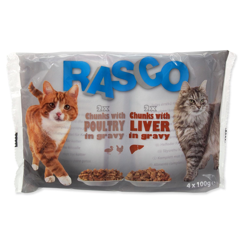 Kapsičky RASCO Cat s drůbežím/ s játry multipack