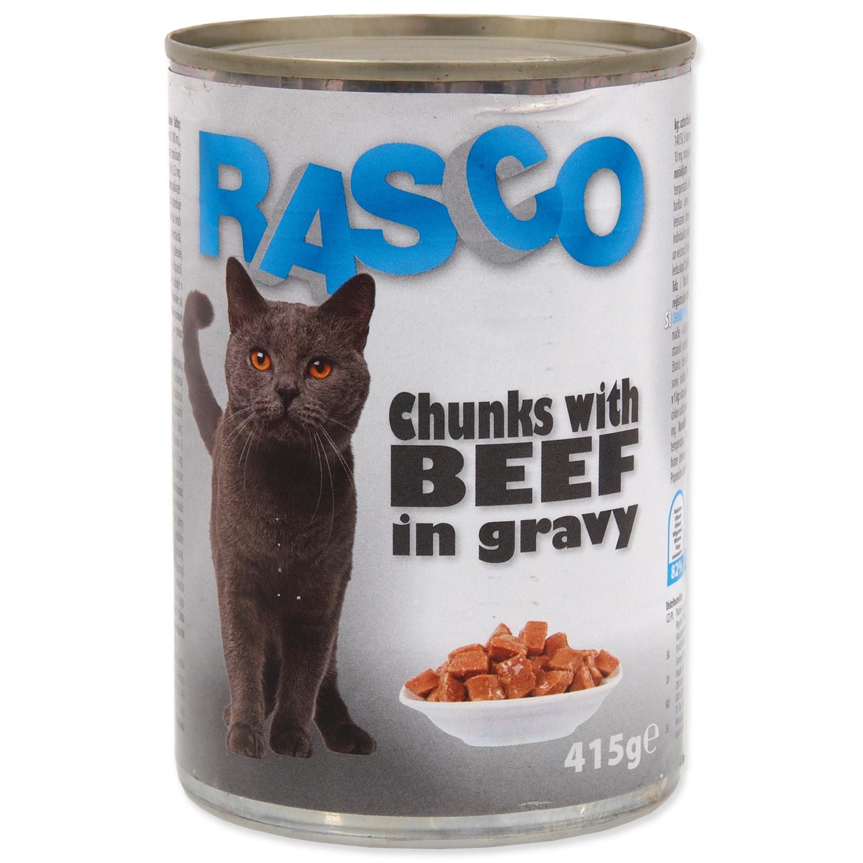 Konzerva RASCO Cat hovězí kousky ve šťávě