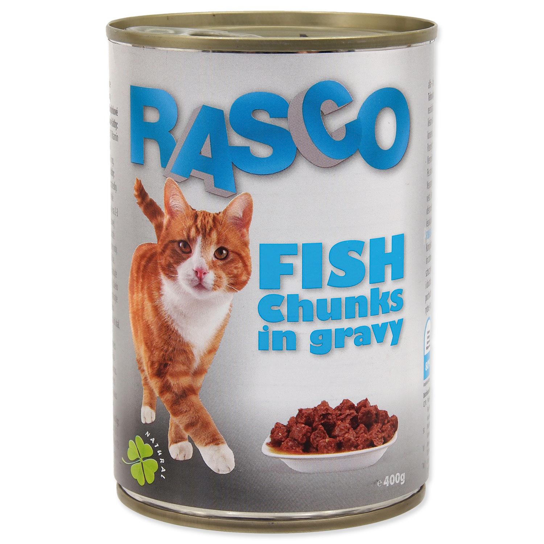 Konzerva RASCO Cat rybí kousky ve šťávě