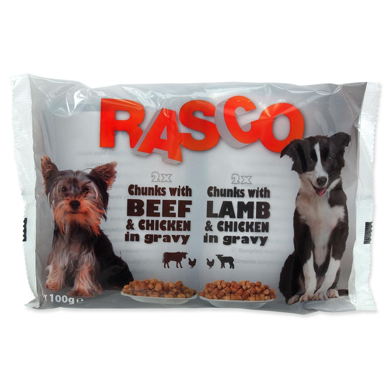 Kapsičky RASCO Dog s kuřecím a hovězím / s jehněčím a kuřecím multipack