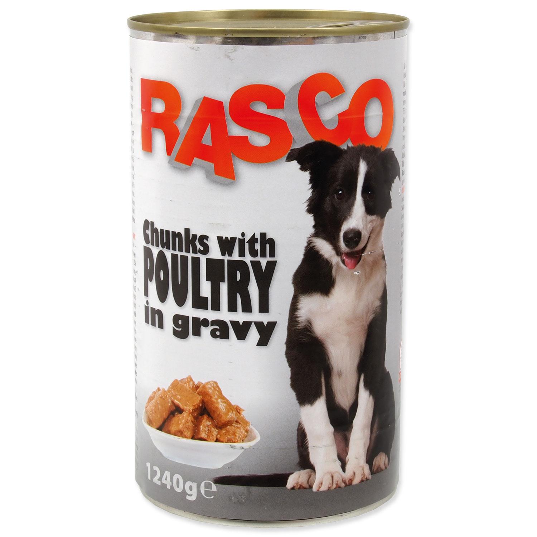 Konzerva RASCO Dog drůbeží kousky ve šťávě