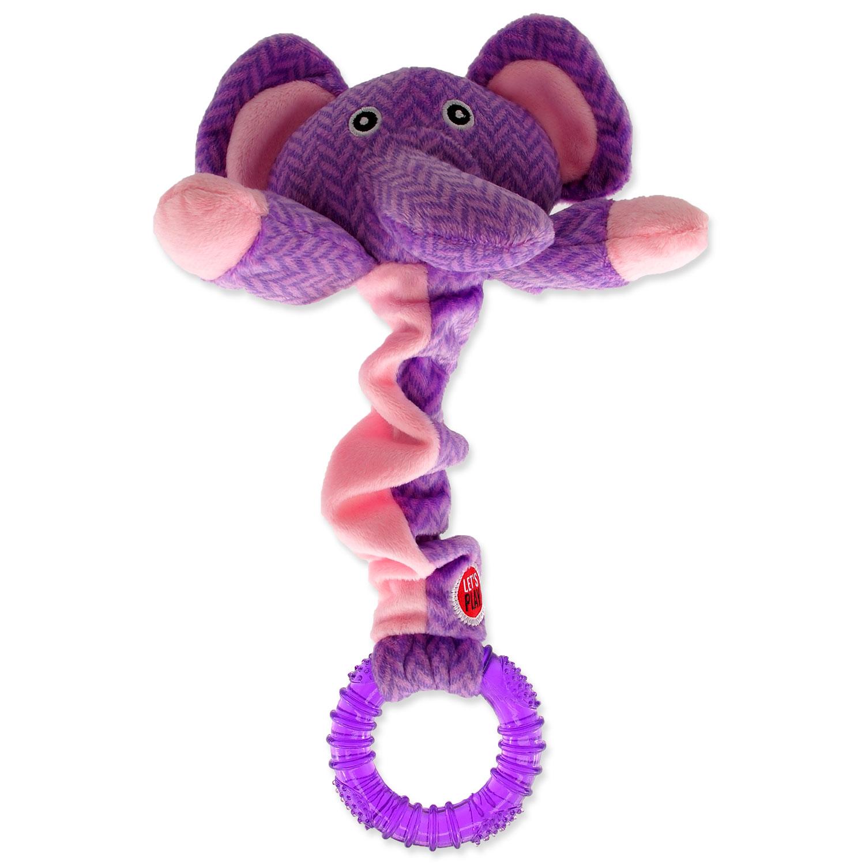 Hračka LET`S PLAY Junior slon fialový 30 cm