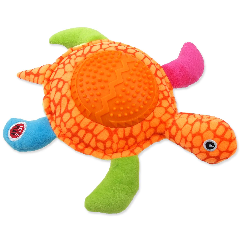 Hračka LET`S PLAY želva oranžová 22 cm