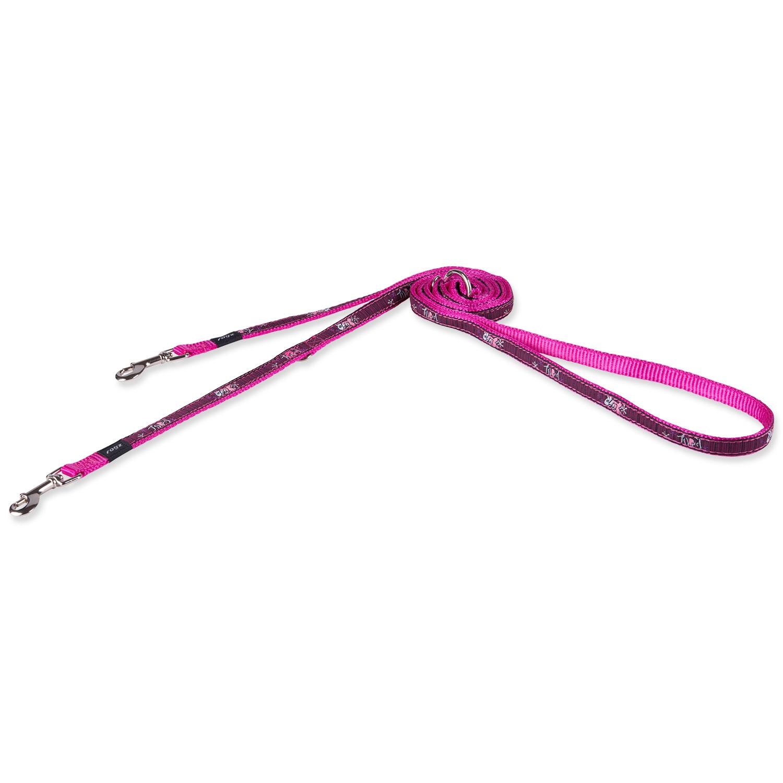 Vodítko ROGZ Fancy Dress Pink Love přepínací S