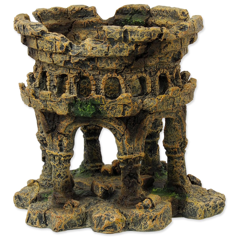 Dekorace AQUA EXCELLENT Zřícenina hradu 12,5 cm