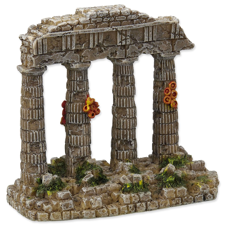 Dekorace AQUA EXCELLENT Zřícenina chrámu 11 cm