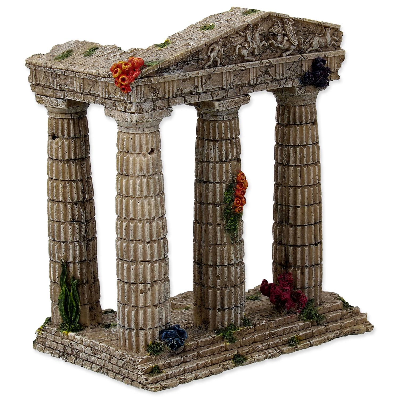 Dekorace AQUA EXCELLENT Zřícenina chrámu 15,5 cm