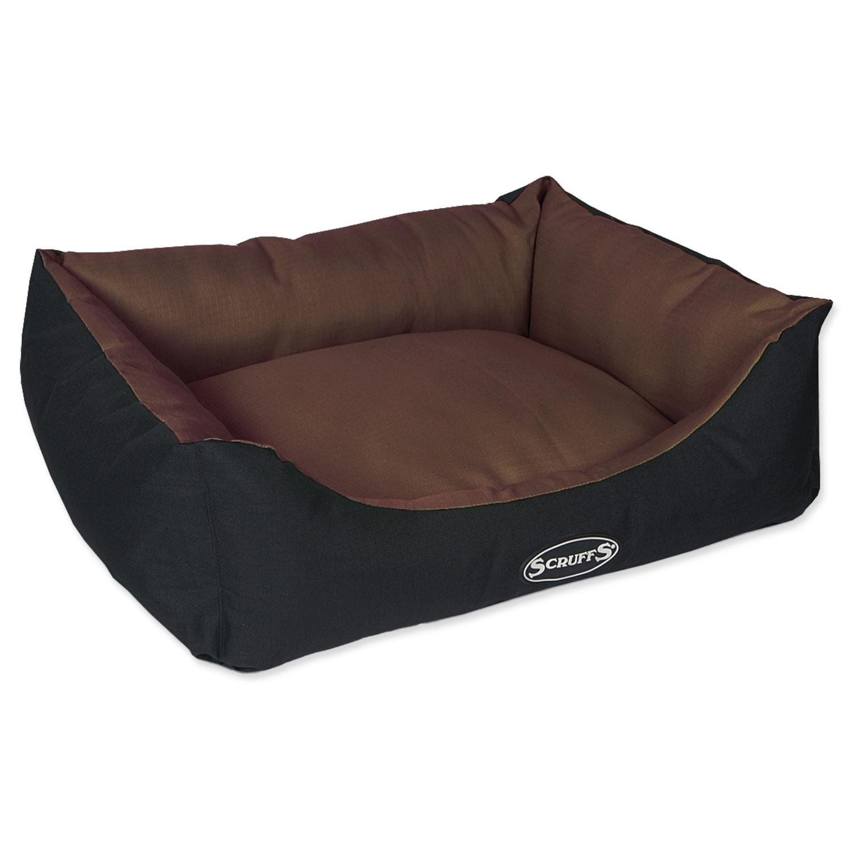 Pelíšek SCRUFFS Expedition Box Bed čokoládový M