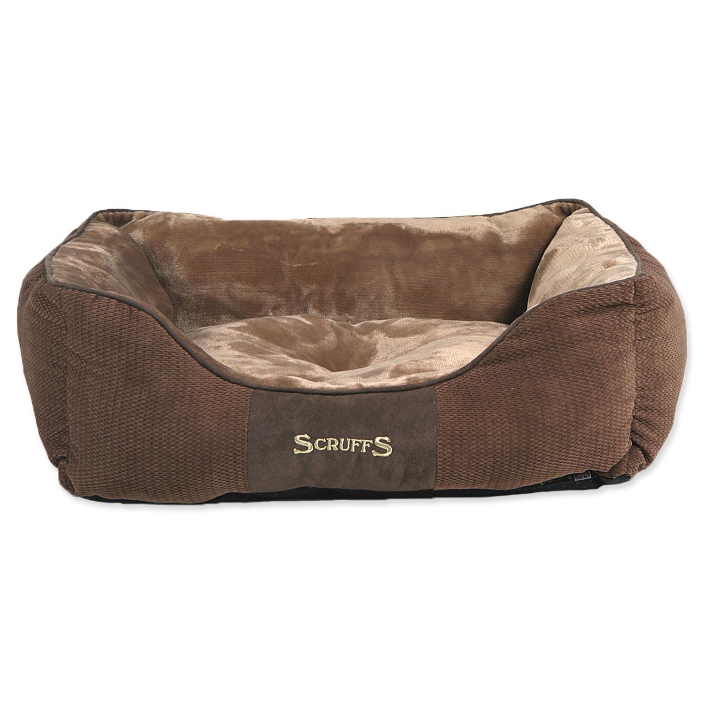 Pelíšek SCRUFFS Chester Box Bed čokoládový M