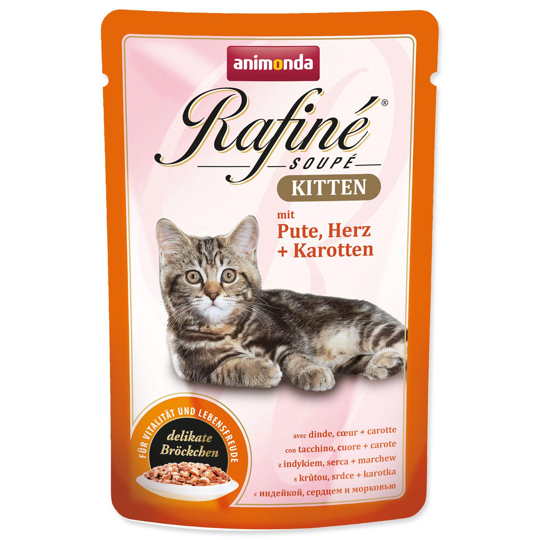 Kapsička ANIMONDA Rafine Kitten krůtí + srdce + mrkev